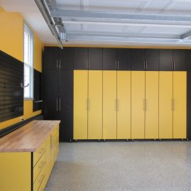 Black and Yellow Cabinets